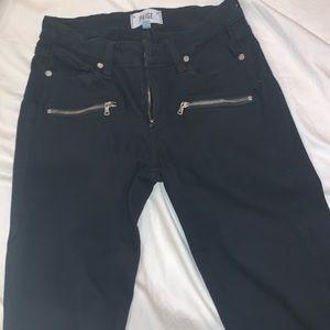 Paige Black Zipper Jeans
